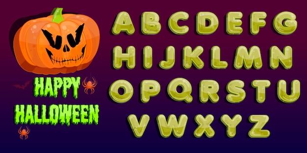 Halloween party. jack o laternenparty. halloween kürbisbeet im mondschein. Premium Vektoren
