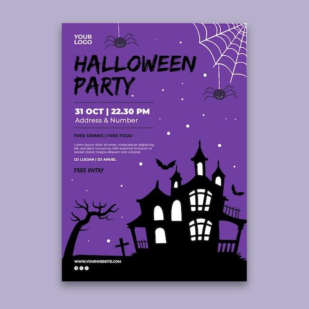 Halloween party poster vorlage Kostenlosen Vektoren