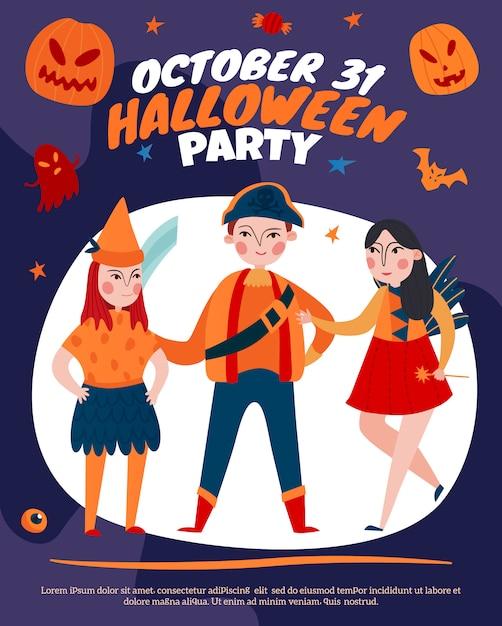 Halloween-partyplakat Kostenlosen Vektoren