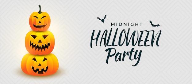 Halloween pimpkin party banner design Kostenlosen Vektoren