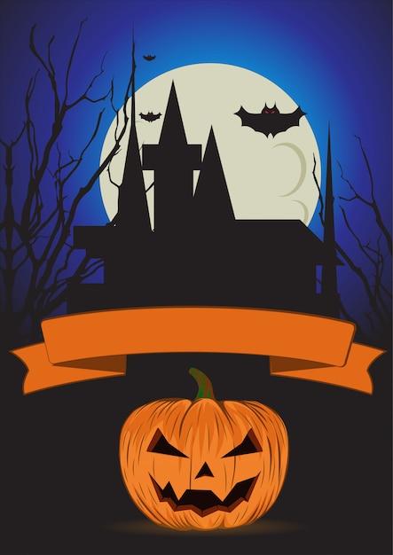 Halloween-plakatschablone Premium Vektoren
