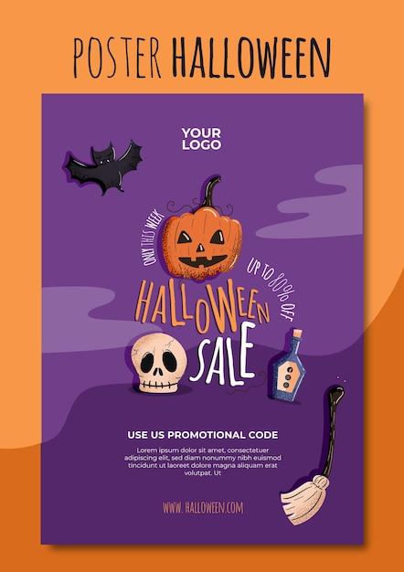 Halloween poster vorlage Kostenlosen Vektoren