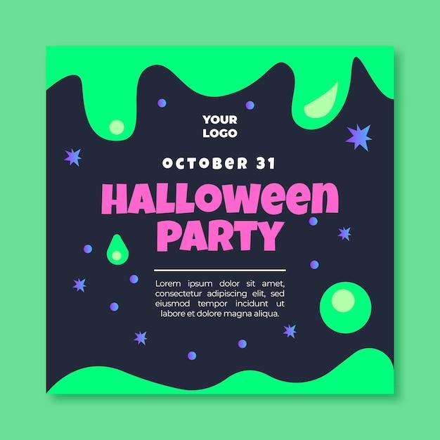 Halloween quadratische flyer vorlage Kostenlosen Vektoren