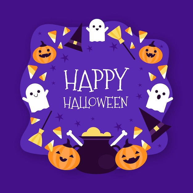 Halloween rahmen Kostenlosen Vektoren