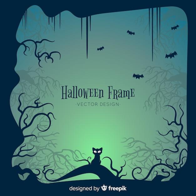 Halloween-rahmenkonzept Kostenlosen Vektoren