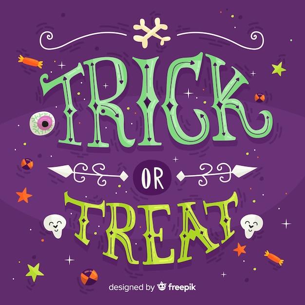 Halloween schriftzug hintergrund Kostenlosen Vektoren