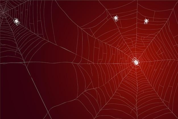 Halloween spinnennetz tapete Kostenlosen Vektoren