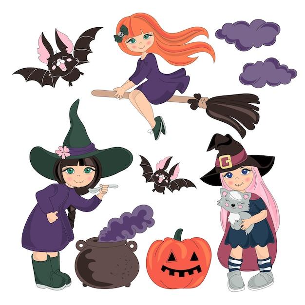 Halloween-vektor-illustrations-set Premium Vektoren