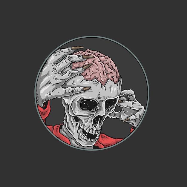 Halloween zombie massaker horror illustration Premium Vektoren