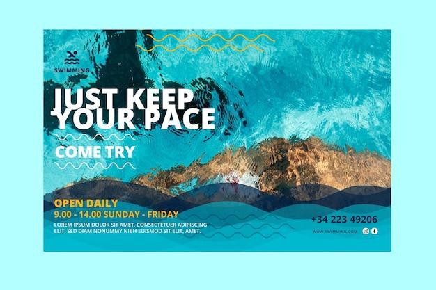 Halten sie das banner für schrittschwimmkurse Kostenlosen Vektoren