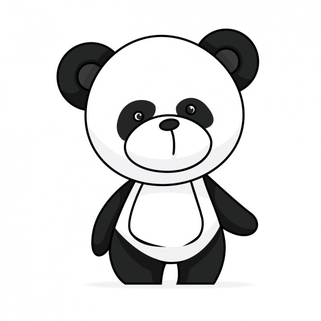 Hand bemalt pandaentwurf Kostenlosen Vektoren