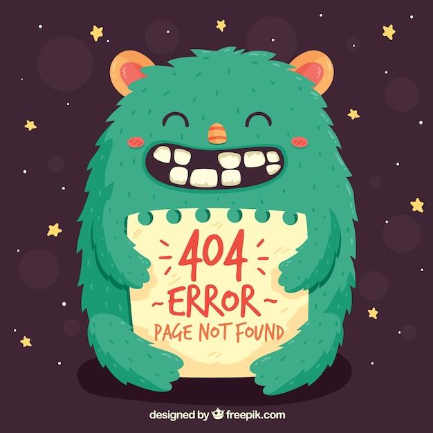 Hand gezeichnet 404 fehler Kostenlosen Vektoren