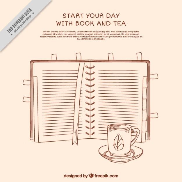 Hand gezeichnet Buch mit Zitat Hintergrund | Download der ...