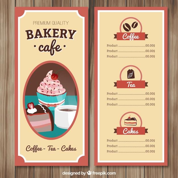 Hand gezeichnet Café-Menü-Vorlage | Download der kostenlosen Vektor