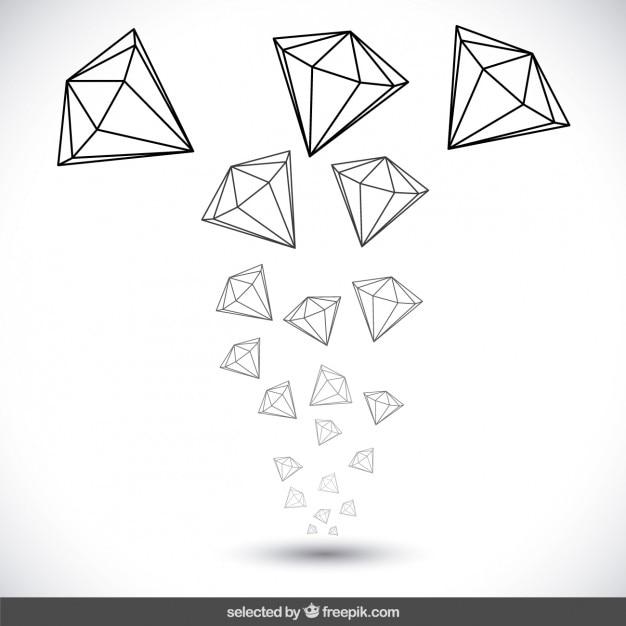 Hand Gezeichnet Diamanten Download Der Kostenlosen Vektor
