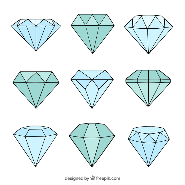 Hand gezeichnet diamanten Kostenlosen Vektoren