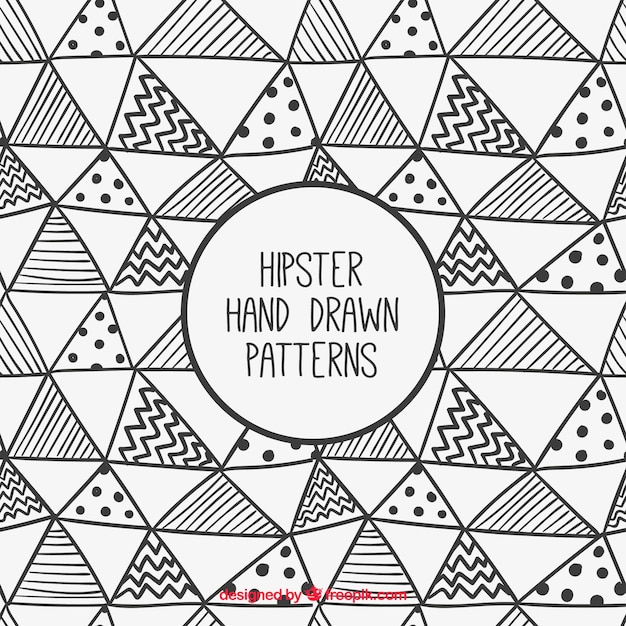 Hand gezeichnet hipster dreieck-muster- Kostenlosen Vektoren