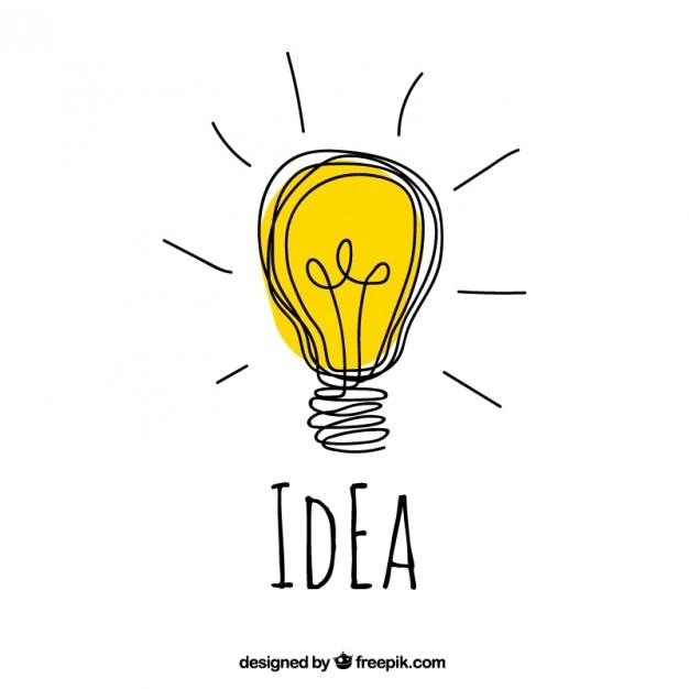 Hand gezeichnet idee konzept Kostenlosen Vektoren