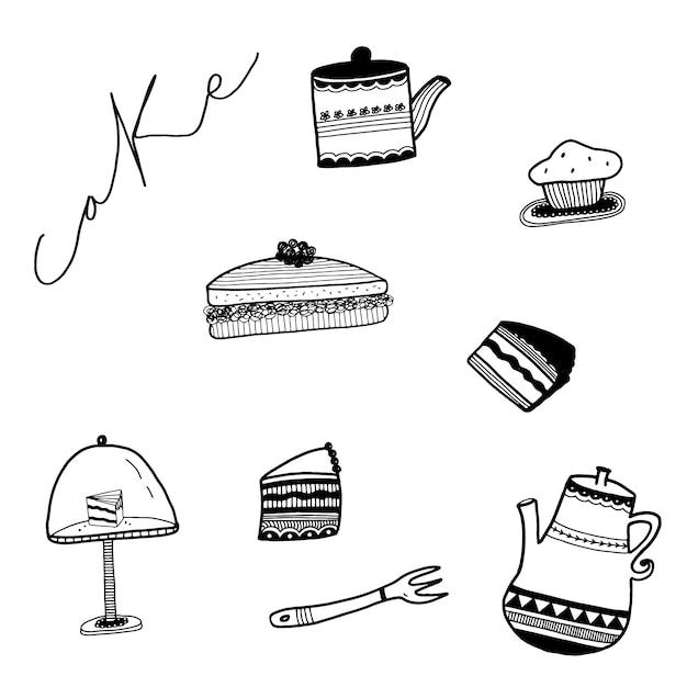 Hand Gezeichnet Kuchen Sammlung Download Der Kostenlosen Vektor