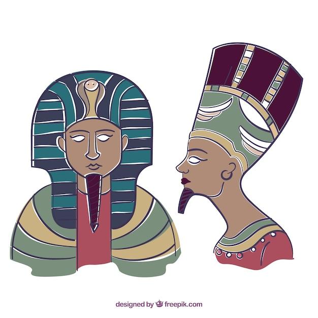 Hand gezeichnet pharaonen Kostenlosen Vektoren