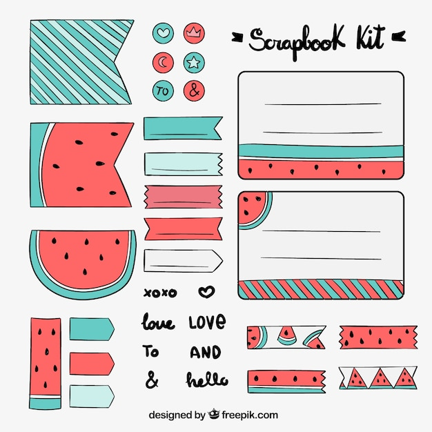 Downloadable Scrapbook Paper Designs