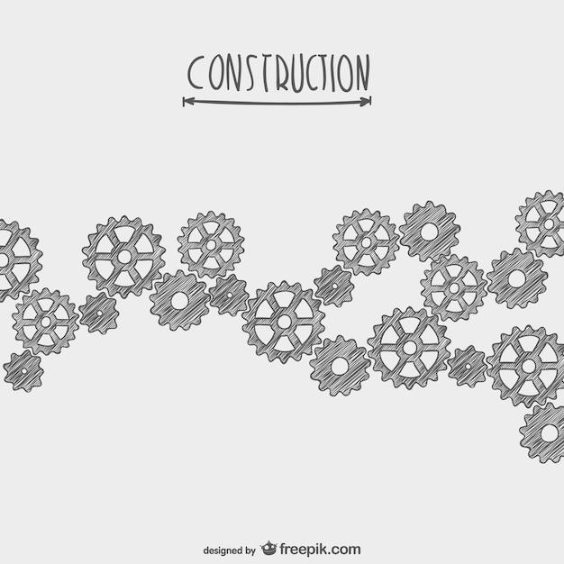 Hand gezeichnet Vektor im Bau Kostenlose Vektoren