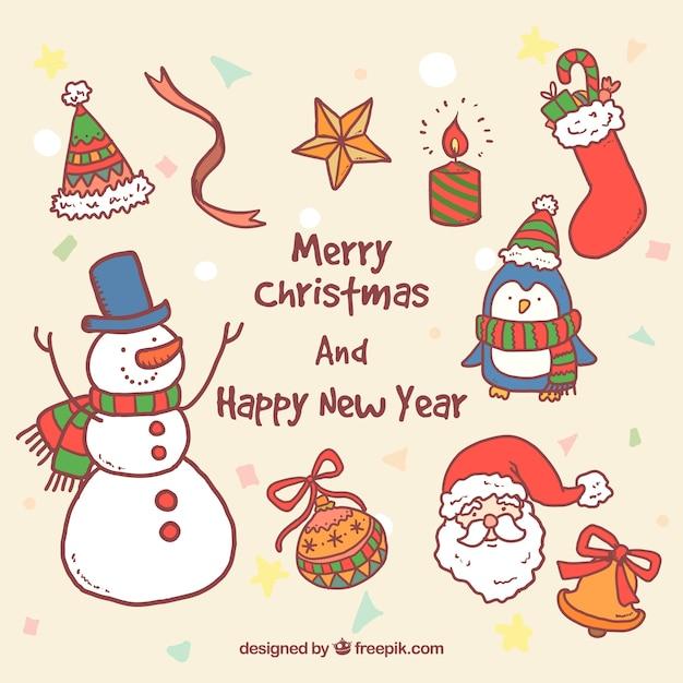 Hand gezeichnet weihnachten und neujahr illustrationen - Cliparts weihnachten und neujahr kostenlos ...