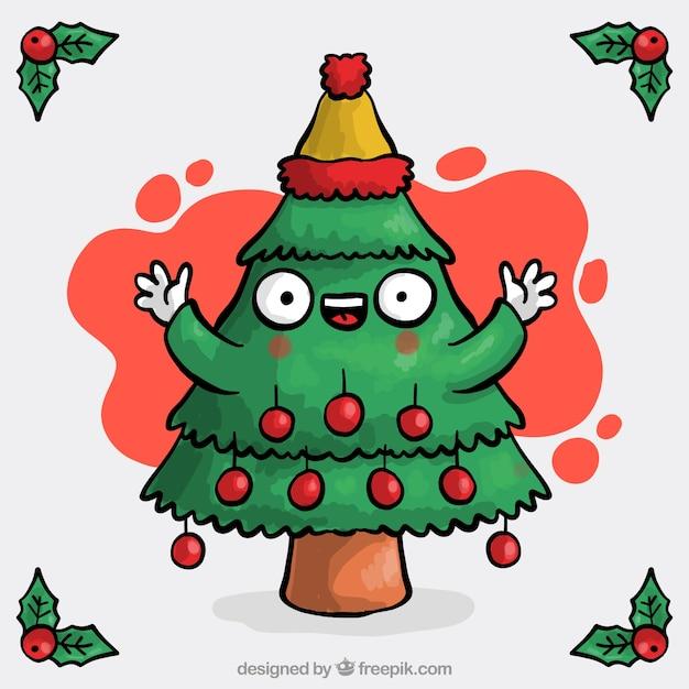 hand gezeichnet weihnachtsbaum hintergrund download der. Black Bedroom Furniture Sets. Home Design Ideas