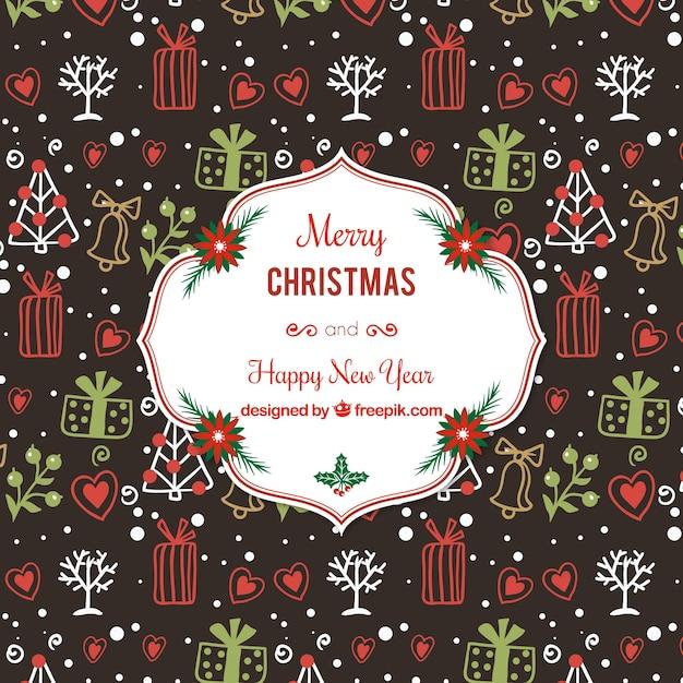 Weihnachtsmotive Zum Kopieren Kostenlos.Hand Gezeichnet Weihnachtsmotiven Hintergrund Download Der