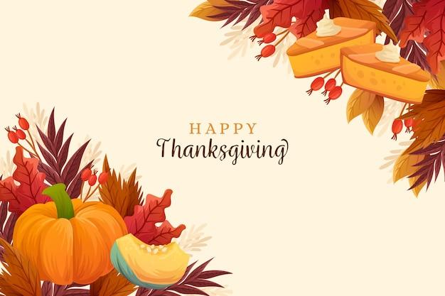 Hand gezeichnete art thanksgiving hintergrund Kostenlosen Vektoren