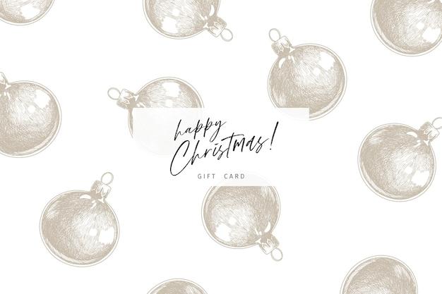 Hand gezeichnete detaillierte weihnachtskugeln. Premium Vektoren