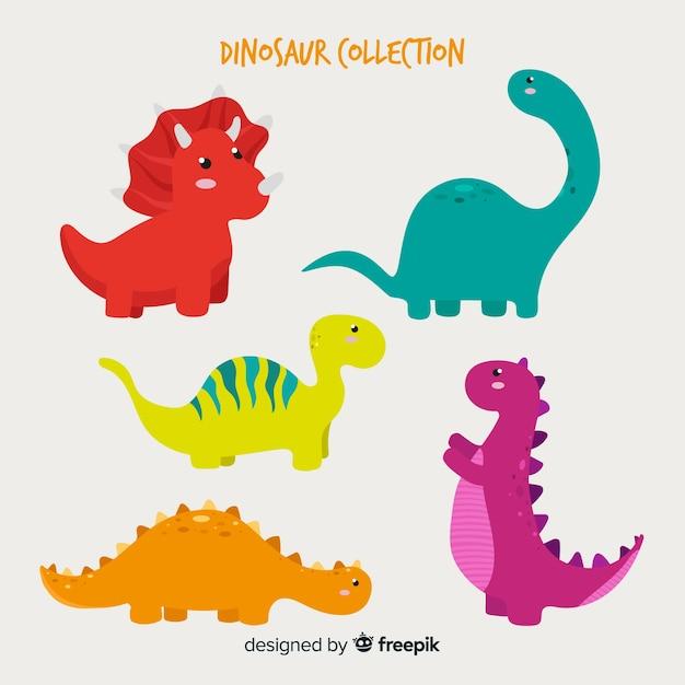 Hand gezeichnete dinosauriersammlung Kostenlosen Vektoren