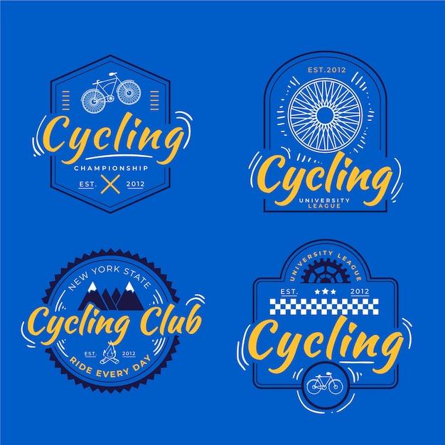 Hand gezeichnete fahrradlogosammlung Kostenlosen Vektoren