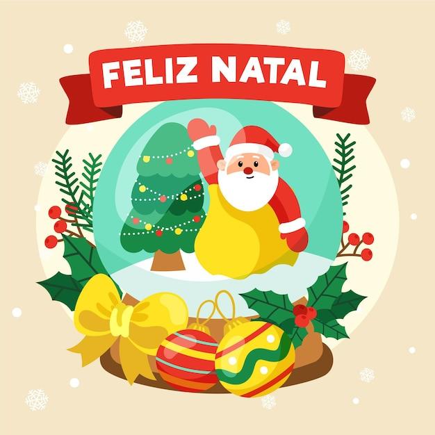 Hand gezeichnete feliz natal Kostenlosen Vektoren