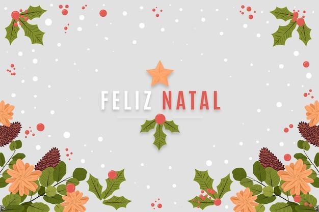 Hand gezeichnete feliz natal Premium Vektoren