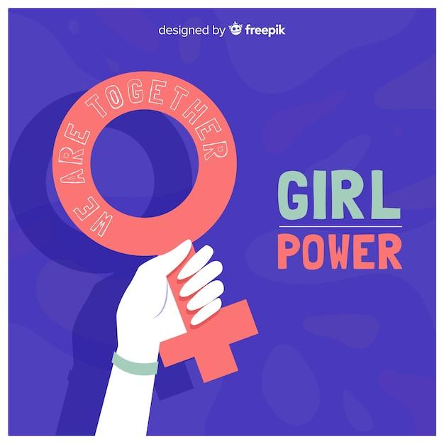 Hand gezeichnete feminismuszusammensetzung Kostenlosen Vektoren