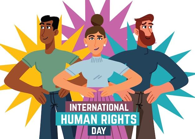 Hand gezeichnete illustration menschenrechtstag Kostenlosen Vektoren
