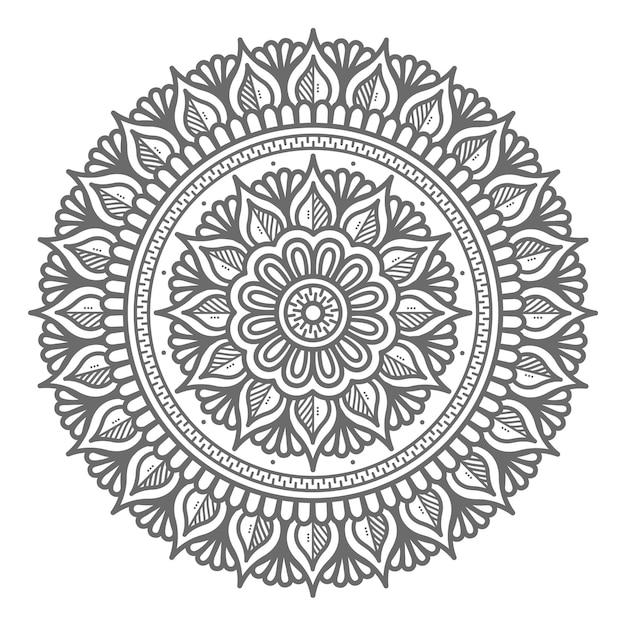 Hand gezeichnete mandala-illustration mit kreisstil für abstraktes und dekoratives konzept Premium Vektoren