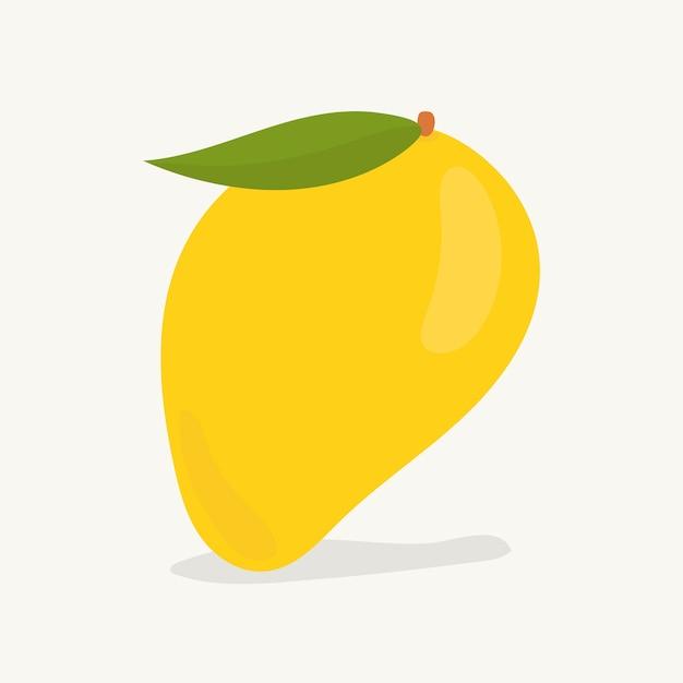Hand gezeichnete mangofruchtillustration Kostenlosen Vektoren