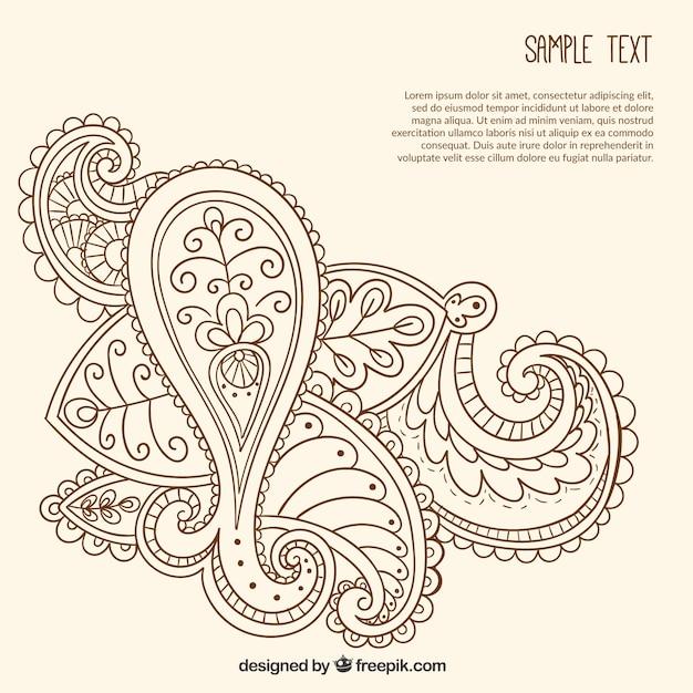 Paisley Pattern Tattoo Designs