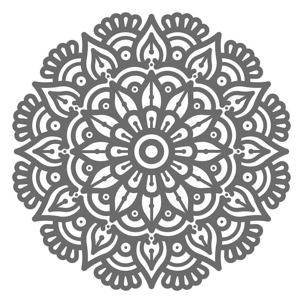 Hand gezeichnete runde kreis schöne mandalaillustration für abstraktes und dekoratives konzept Premium Vektoren