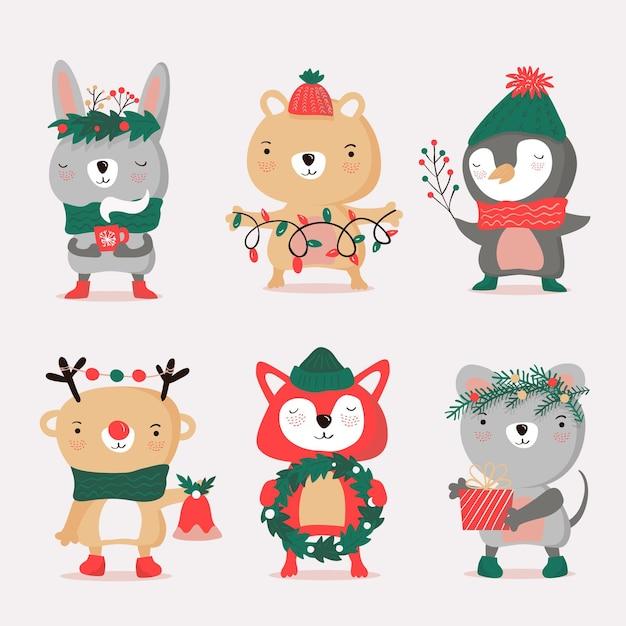Hand gezeichnete weihnachtszeichen sammlung hand gezeichnete weihnachtszeichen sammlung Kostenlosen Vektoren