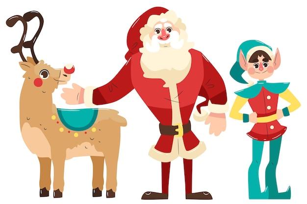 Hand gezeichnete weihnachtszeichensammlung Kostenlosen Vektoren