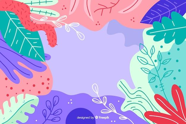 Hand gezeichneter abstrakter blumenhintergrund Kostenlosen Vektoren