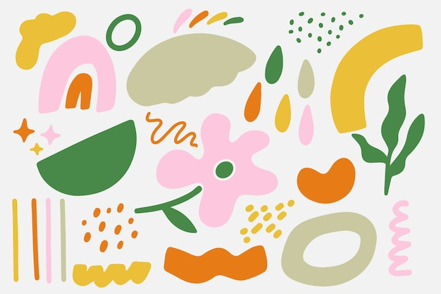 Hand gezeichneter abstrakter organischer formhintergrund Premium Vektoren
