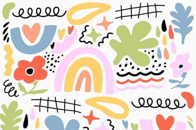 Hand gezeichneter abstrakter organischer formhintergrund Kostenlosen Vektoren