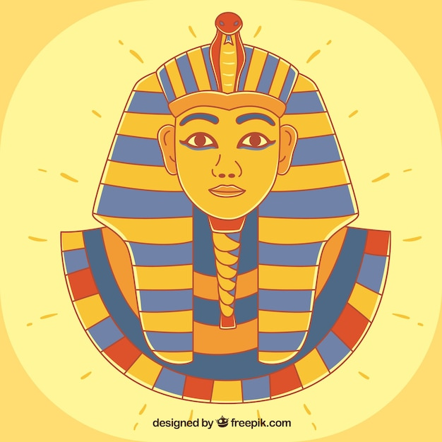 Hand gezeichneter alter ägypten-pharao Kostenlosen Vektoren