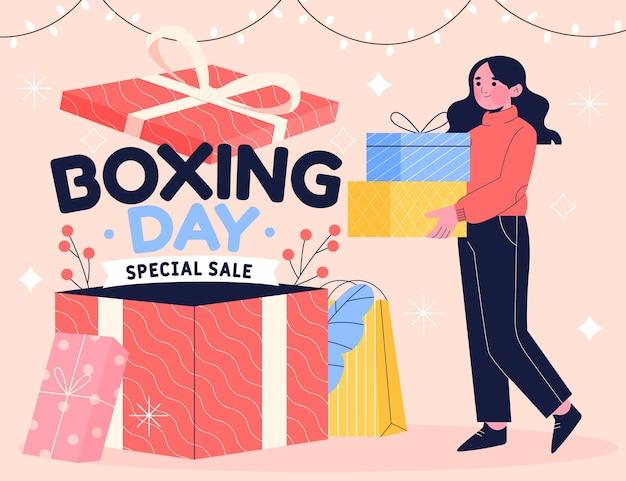Hand gezeichneter boxing day sale Kostenlosen Vektoren