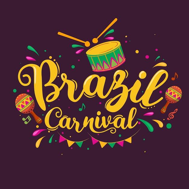 Hand gezeichneter brasilianischer karneval Kostenlosen Vektoren