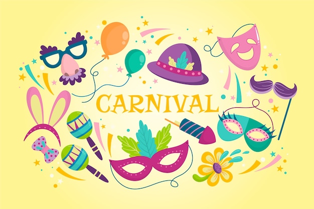Hand gezeichneter bunter karneval Kostenlosen Vektoren